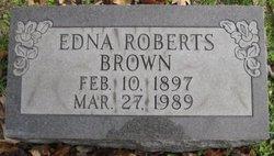 Edna <I>Roberts</I> Brown