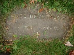 Alice <I>Hein</I> Teeple