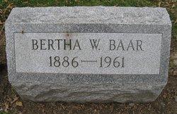 Bertha Wilhelmina <I>Smith</I> Baar