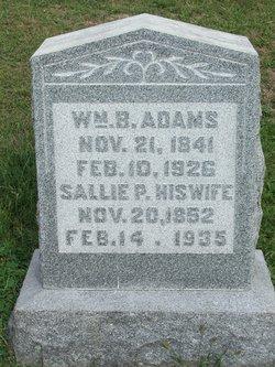 """Sarah Pauline """"Sallie"""" <I>Bains</I> Adams"""