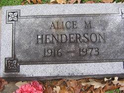 Alice M. Henderson