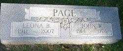 Leona B. <I>Braun</I> Page