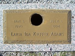 Lavia Ida <I>Kieffer</I> Adams