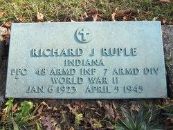 Pvt Richard J Ruple