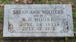 Sarah Ann <I>Wootters</I> Moore
