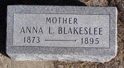 "Hannah L ""Anna"" <I>Warner</I> Blakeslee"