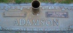 Sarah Blair <I>Henderson</I> Adamson
