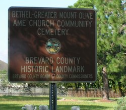 Bethel-Greater Mount Olive AME Church Cemetery