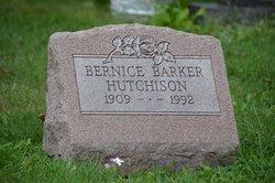 Bernice <I>Barker</I> Hutchison