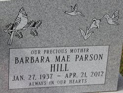 Barbara Mae <I>Parson</I> Hill