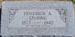 Friedrich A Sporing