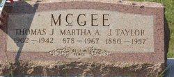 """Martha Anne """"Mattie"""" <I>Carlin</I> McGee"""