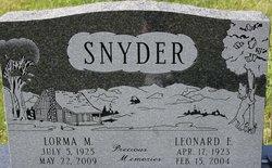 Lorma M <I>Rinker</I> Snyder