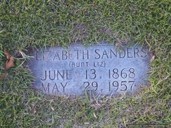 "Elizabeth Tabitha ""Aunt Liz"" <I>Gentry</I> Sanders"