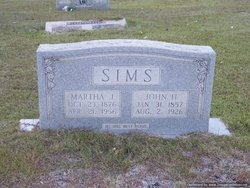 Martha Jane <I>Lawrence</I> Sims