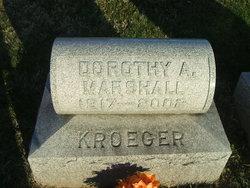 Dorothy A <I>Kroeger</I> Marshall
