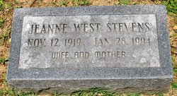 Jeanne <I>West</I> Stevens