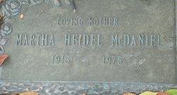 Martha <I>Heidel</I> McDaniel