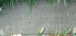 Mary E Bowman