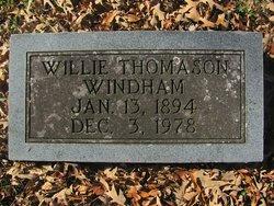 Willie Amanda <I>Thomason</I> Windham