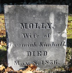 "Mary ""Molly"" <I>Foote</I> Kimball"