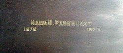 Maud H. Parkhurst