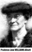 Prudence Jane <I>Williams</I> Allnutt