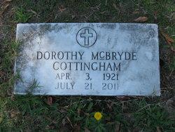 "Dorothy Geneva ""Dot"" <I>McBryde</I> Cottingham"
