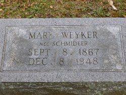 Mary <I>Schmidler</I> Weyker