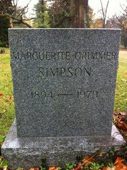 Marguerite E. <I>Grimmer</I> Simpson