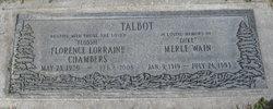 "Florence Lorraine ""Flossie"" <I>Chambers</I> Talbot"