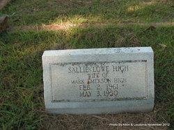 "Sarah ""Sallie"" <I>Lowe</I> High"