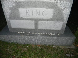 Mary <I>Harris</I> King