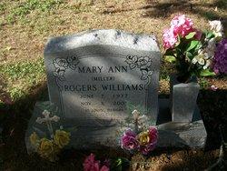 Mary Ann <I>Miller</I> Rogers Williams