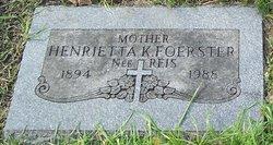 Henrietta K <I>Reis</I> Foerster