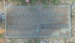 Mozella <I>West</I> Henderson