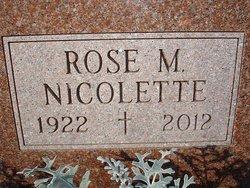 Rose M. <I>Nicolette</I> Baldwin