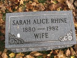 Sarah Alice <I>Proven</I> Rhine