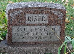 Sgt George Henry Riser
