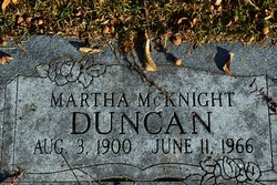 Martha <I>McKnight</I> Duncan
