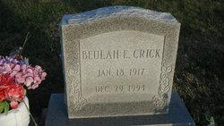 Beulah E. <I>Rhine</I> Crick