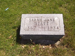 Sarah Jane <I>Freeman</I> Hiatt