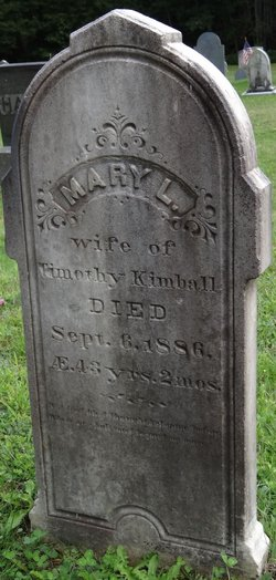 Mary <I>Lessner</I> Kimball