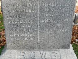 Deborah <I>Westervelt</I> Rowe