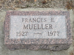 Frances E. <I>Almond</I> Mueller