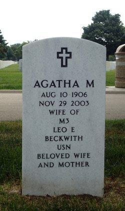 Agatha Mary <I>Mueller</I> Beckwith