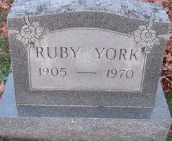 Ruby Estelle <I>Weldon</I> York