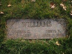 """Beryl F. """"Mom"""" <I>Adams</I> Williams"""