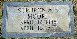 Sophronia <I>Holleman</I> Moore