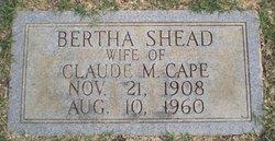 Bertha <I>Shead</I> Cape